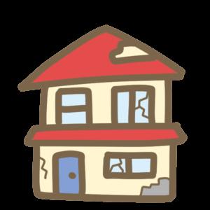 ボロボロの家イラスト